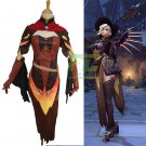 Free Shipping Mercy Witch Skin Cosplay Costume Overwatch OW Halloween