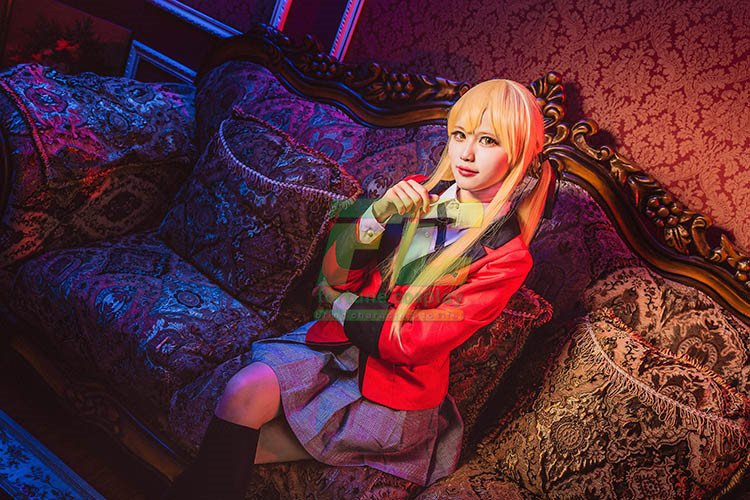 Free Shipping Kakegurui Momobami Kirari Compulsive Gambler Cosplay Costume
