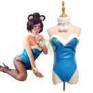 Free Shipping Bunny Mei Cosplay Costume Overwatch OW