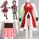 Free Shipping Puella Magi Madoka Magica  Kyoko Sakura Cosplay Costume