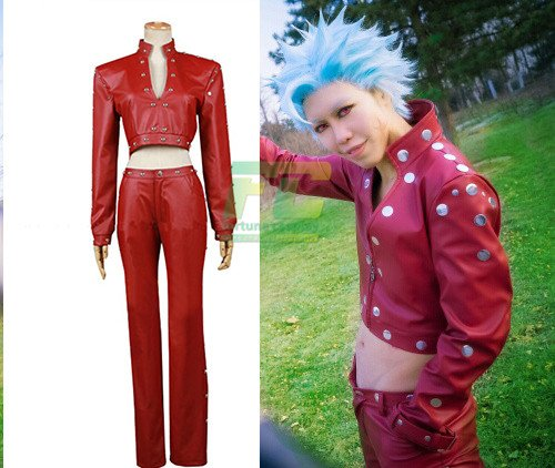 Free Shipping The Seven Deadly Sins Ban Cosplay Fox's Sin of Greed Costume