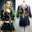 Free Shipping  Sucker Punch Baby Doll Costume Emily Cosplay Uniform Sailor Skirt