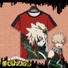 Free Shipping  My Hero Academia Boku no Hero Academia  Bakugou Katsuki T shirt