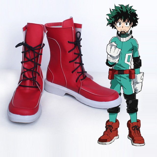 Free Shipping  Boku no Hero Academia Midoriya Izuku Cosplay Boots Shoes My Hero Academia