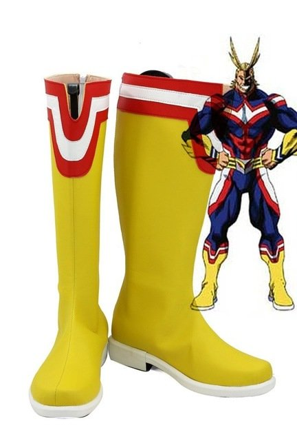 Free Shipping  My Hero Academia All Might Cosplay Shoes Boots Custom Made