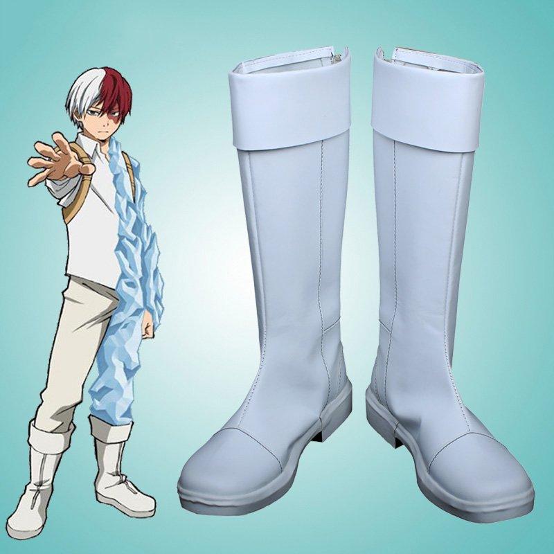 Free Shipping  My Hero Academia Shoto Todoroki Cosplay Boots Boku no Hiro