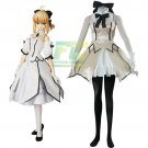 Free Shipping Fate Stay Night Fate Zero Saber Lily White Cosplay Costume