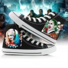 Free Shipping Suicide Squad Canvas Harley Quinn Joker Leisure  Sneaker Shoes