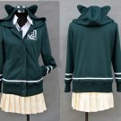 Free Shipping  Super DanganRonpa 2 Chiaki Nanami Cosplay Costumes Jacket Shirt Skirt Custom Made