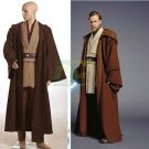 Free Shipping Star Wars Obiwan Obi-Wan  Kenobi Jedi cosplay costume custom Made