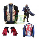 Free Shipping Overwatch OW Soldier 76 John Jack Morrison Jacket Gloves Cosplay Costume