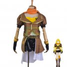 Free Shipping RWBY Yang Xiao Long Cosplay  Costume Yellow Trailer