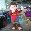 Free Shipping Curious George monkey mascot costume for Adult Halloween Birthday party costume