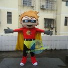 Free Shipping Superman Super Boy Mascot Costume for Adult Halloween costume