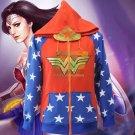 Free Shipping Wonder Woman Diana Cosplay Costumes Hoodie Sweatshirt Pullover
