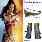 Free Shipping Wonder Woman Wristbands Wrister Bracers Headwear Cosplay Props