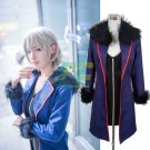 Free Shipping  Fate Grand Order Saber Alter ep Shinjuku Faux Leather Cosplay Costume