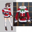 Free Shipping Overwatch Mei Christmas cosplay costume Halloween Christmas Event
