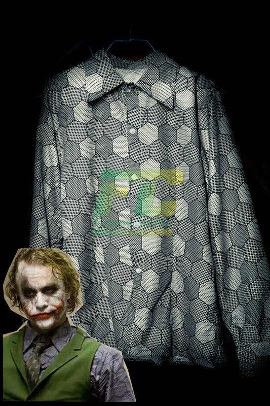 0b778534ad3a Free Shipping Batman Dark Knight Joker Shirt Cosplay Costume Long Sleeve  Blue Spring Shirts