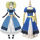 Free Shipping Ethel Cordelia Midford Cosplay Black Butler Book of the Atlantic Blue Dress