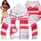 Free Shipping Kid Boys Girls Moana cosplay costume Hoodies Sweatshirt Jacket Halloween