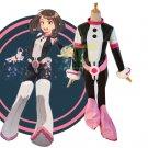 Free Shipping Boku no Hero Academia uraraka ochako Battle Cosplay Costume