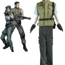 Free Shipping Resident Evil 1 Chris Redfield S.T.A.R.S. Cosplay Costume Custom Made