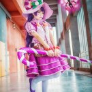 Free Shipping League of Legends The Fae Sorceress Lulu Candy Witch Cosplay Costume