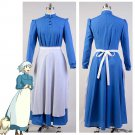 Free Shipping Howl's Moving Castle Sophie Dress Cosplay Costume