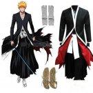 Free Shipping Bleach Ichigo Kurosaki Bankai Kurosaki Ichigo Cosplay Costume Full Set