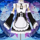 Free Shipping Ram/Rem Cosplay Re:zero Re Life In a Different World Cosplay Costume Maid Dress