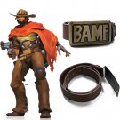 Free Shipping OW Game McCree BAMF Belt Bounty Hunter Jesse Mccree Cosplay Accessory Cowboy