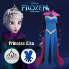 Free Shipping Frozen Elsa Coronation cosplay costume Dress Custom Made