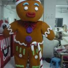 Free Shipping Gingerbread Man with candy stick Mascot costume 2 for Adult Christmas costume