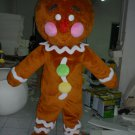 Free Shipping Gingerbread Man Mascot costume 4 for Adult Christmas costume