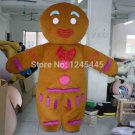 Free Shipping Gingerbread Man Mascot costume 7 for Adult Christmas costume