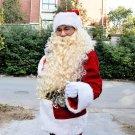 Free Shipping  Christmas luxury golden Santa Claus costume