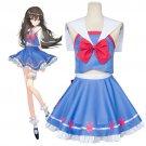 Free Shipping OW D.VA Cosplay DVA Hana Song Sailor Uniform Skirt Overwatch Cosplay Costume
