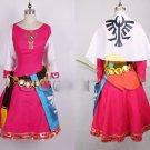Free Shipping  Legend of Zelda Skyward Sword Princess Cosplay Costume