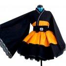 Free Shipping Naruto Shippuden Uzumaki Naruto Female Lolita Kimono Dress Cosplay Costume