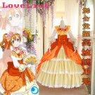 Free Shipping Lovelive Ball Gown Kousaka Honoka Awaken Cosplay Costume Party Palace Full Dress