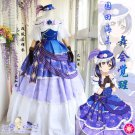 Free Shipping Lovelive Ball Gown Sonoda Umi  Awaken Cosplay Costume Party Palace Full Dress