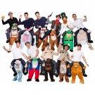 Free Shipping Novelty Oktoberfest men Ride on Me 5 Animal Funny Fancy Dress Unisex Mascot Costume