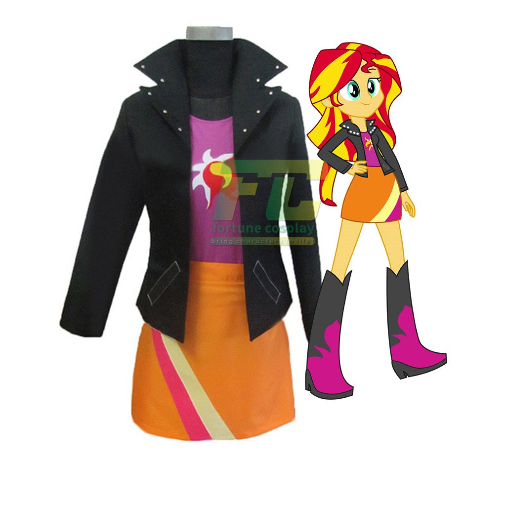 9e9d676b85e4 Free Shipping Friendship Is Magic Sunset Shimmer Cosplay Costume Custom Made