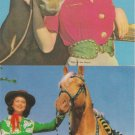 Beautiful Horses and Ladies Five Postcards Chrome