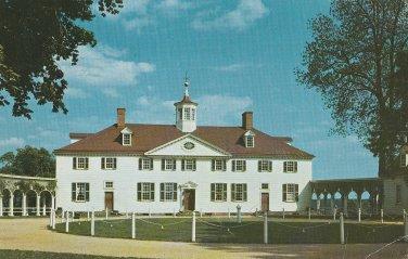 Mount Vernon Postcard George Washington Chrome