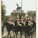 Queen's Mounted Troops Passing Hyde Park Corner London Postcard