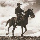 IN THE SADDLE Postcard Horse Western Cowboy Sepia Tone