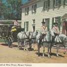 Powel Coach Mount Vernon Postcard Horses Carriage