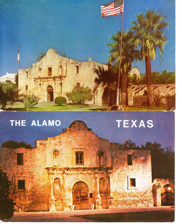 Two Postcards THE ALAMO Texas Historical San Antonio ...